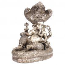 Handgemaakte bronzen Ganesha op slang