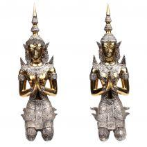 Set handgemaakte bronzen Tempanons