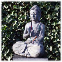 Tuinbeeld Boeddha namaskara donker L
