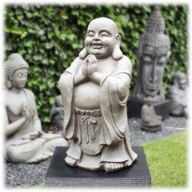 Staande Happy Boeddha groetend licht