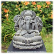 Ganesha tuinbeeld 40cm donker