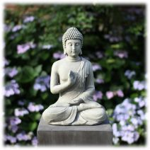 Tuinbeeld Boeddha namaskara licht M