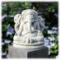 Ganesha tuinbeeld 40cm licht