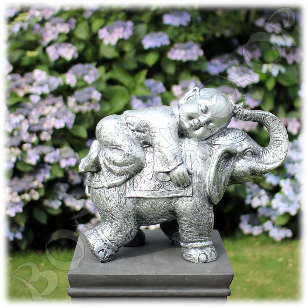 Kind monnik op olifant zilver