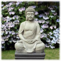 Tuinbeeld meditatie Boeddha licht