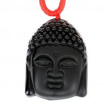 Thaise Boeddha hanger obsidiaan