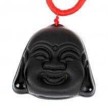 Chinese Boeddha hanger obsidiaan