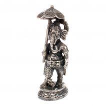 Bronzen Ganesha met parasol
