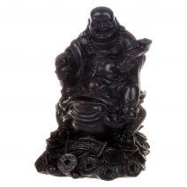 Happy Boeddha op fortune kikker polystone
