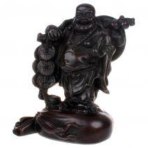 Happy Boeddha met munten op zak