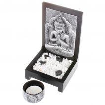 Kandelaar Boeddha zilver