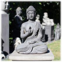 Tuinbeeld Boeddha namaskara donker M