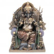Zittende Ganesha op troon