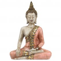 Thaise Boeddha craquele rood