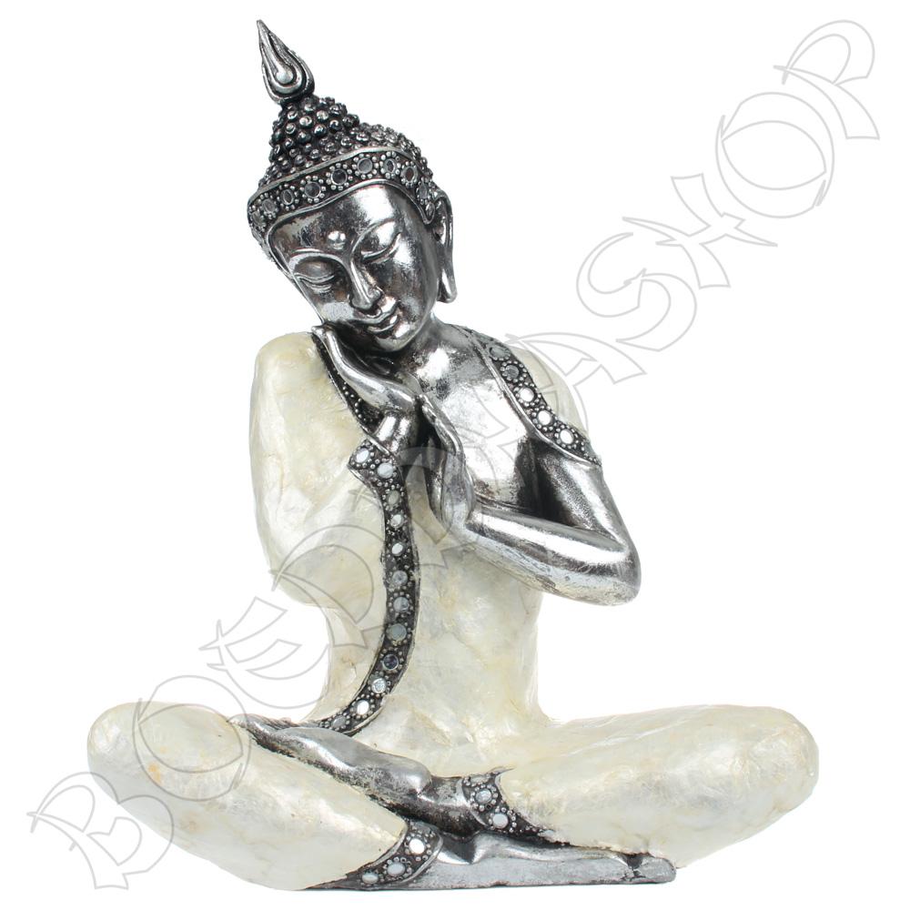 Serene Thaise Boeddha parelmoer   Boeddhashop