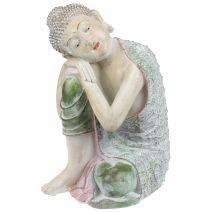 Slapende Indische Boeddha pastel antique L