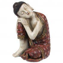 Slapende Indische Boeddha rood L