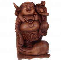 Happy Boeddha met juk en kind 50cm
