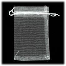 Organza zakjes 10x15 cm wit