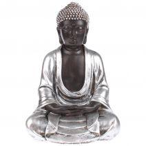 Japanse meditatie Boeddha zwart/zilver