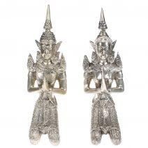Set handgemaakte bronzen Tempanons zilver