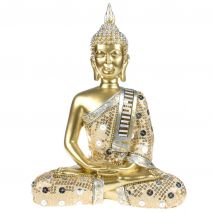 Thaise meditatie Boeddha goud met luxe gewaad