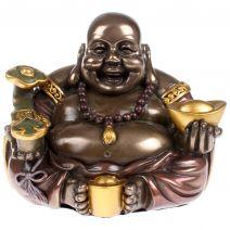 Chinese dikbuik Boeddha met yuni en goudklomp