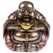 Chinese dikbuik Boeddha met goudklomp bol