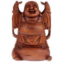 Houten happy Boeddha hotei 30cm