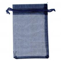 Organza zakjes 10x15 cm donkerblauw