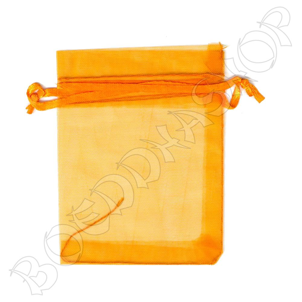 Organza zakjes 7x9 cm oranje