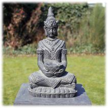 Boeddha met lotusschaal donker