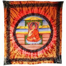Boeddha wanddoek / Thangka oranje