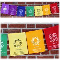 7 chakra vlaggen met affirmaties