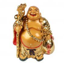 Boeddha met staf goud