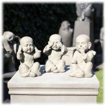 Set monniken Horen Zien Zwijgen M grijs